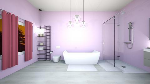 Violet bathroom - Feminine - Bathroom  - by Agamanta