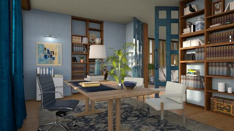 blue lawyer - Office  - by marinmarin