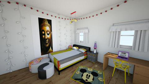 Mourice Room - Retro - Bedroom  - by chipchop