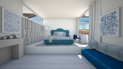 Blue Bedroom  - Bedroom - by deleted_1524503933_Architectural