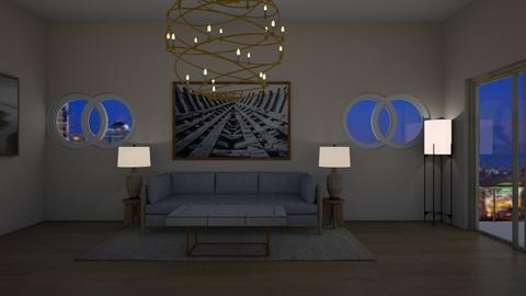 Down Town Seattle_Night - Modern - Living room  - by Itsavannah