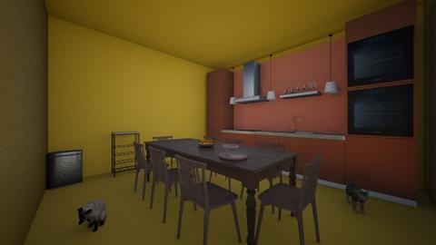 Orange room - Kitchen  - by deona