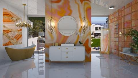 ORANGE AND WHITE BATH - Modern - Bathroom  - by RS Designs