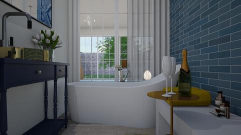 Eclectic_master bathroom - Bathroom  - by lovasemoke