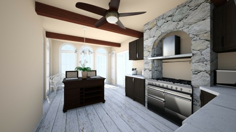 Luxury Farmhouse Kitchen  - Country - Kitchen - by saraheharris44