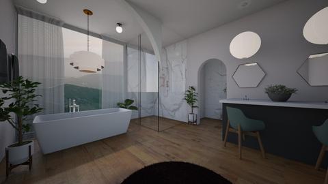 Simple Bath - Minimal - Bathroom  - by Happyperson567