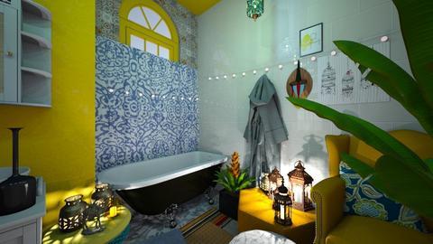 Boho Bathroom - Eclectic - Bathroom  - by HIHELLOHI