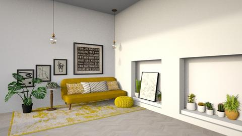 Yellow Greenery - Modern - Living room  - by CitrusSunrise