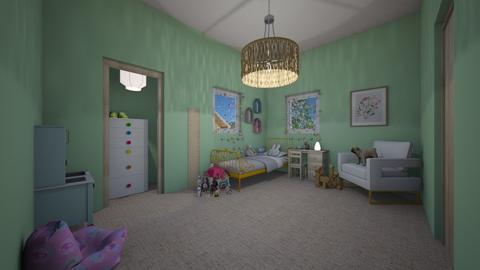 Little girl room - Kids room  - by llamaperson