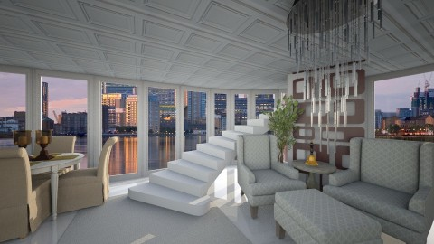 Canary Wharf Penthouse - Glamour - Living room  - by Bianca Biffa Hart