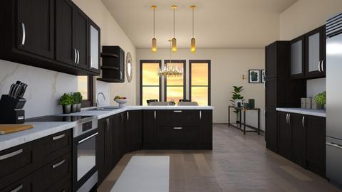 kitchen peninsula - Kitchen  - by elhamsal24