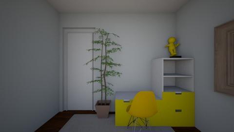 Patel yellow door wall - Bedroom - by dayleneygl