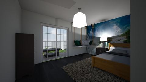 Waterfall Bedroom  - Modern - Bedroom  - by riordan simpson
