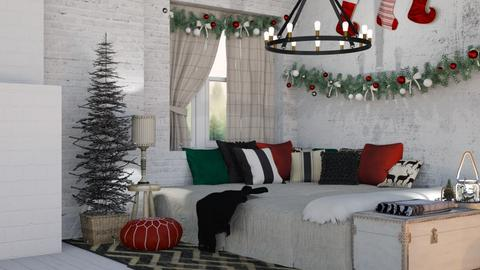 Country Christmas - Country - Bedroom - by NEVERQUITDESIGNIT