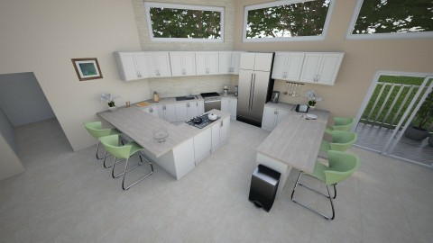 Grand Kitchen - Eclectic - Kitchen  - by millerfam