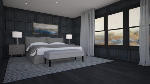 Panelled Bedroom - by Valentinapenta