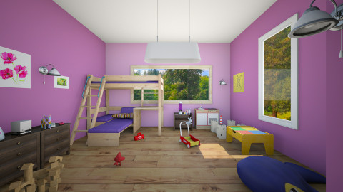 n1 - Modern - Kids room  - by mapabustos