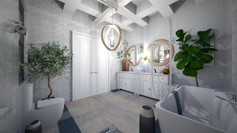 soft nautical bathroom  - Modern - Bathroom  - by MekhiKalaukoa