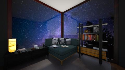 Stary night bedroom - Bedroom  - by Puppylover5673