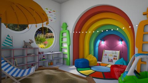 rainbow corner - Retro - Kids room  - by donella