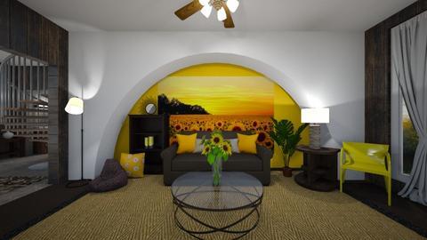 Sunflower Livingroom - Modern - Living room  - by haileymilby