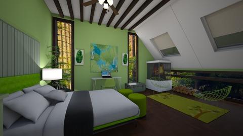 Attic Bedroom - Bedroom  - by nkanyezi