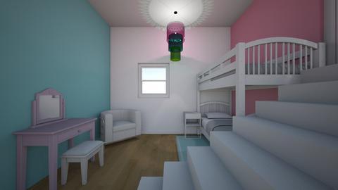 Sleepover Room - Feminine - by bluebunny13