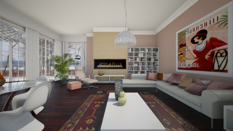 Rustic Rosa - Rustic - Living room  - by janip