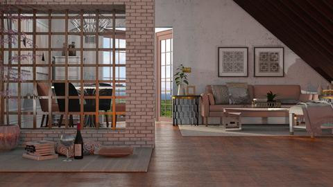 hint of rose - Living room  - by Just Bee