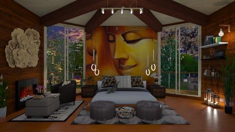 bedroom mural - Rustic - Bedroom  - by agargidp