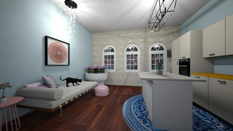 Sakura Kitchen - Glamour - Living room  - by N_t_Here