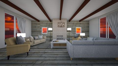 Country Living Room - Living room  - by Anya F
