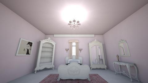 Pink Antique Bedroom - Bedroom  - by Karen Sheets