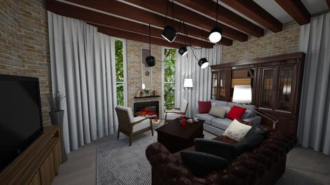 BRICK - Living room - by Salome Almaguer