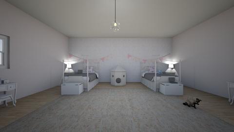 twin kids bedroom - Feminine - Kids room  - by luvtaeyonggx