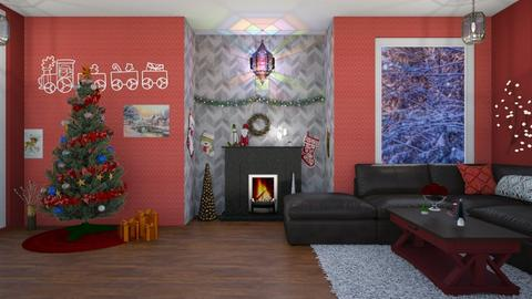 Christmas wall - Living room  - by fullmoon13
