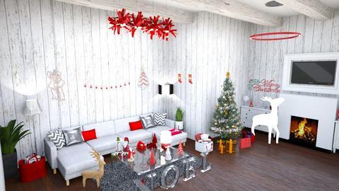 Navidad - Vintage - Living room  - by kellynazha