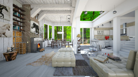 In nature - Eclectic - Living room  - by Ida Dzanovic