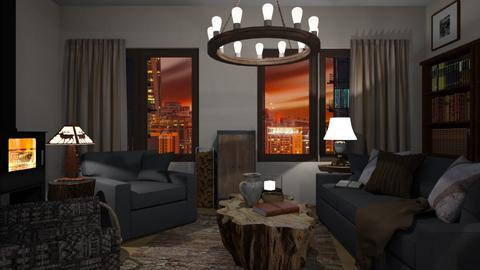 Flat 24 Living Room - Rustic - Living room  - by RaeCam