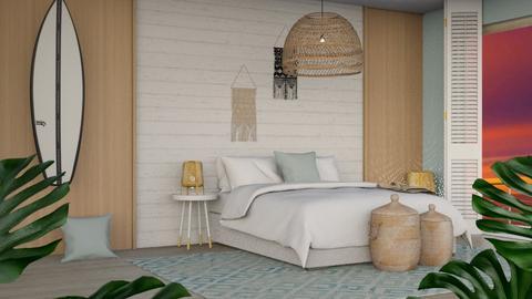ocean blues - Bedroom  - by n i n i