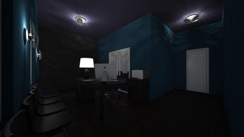 Blue Office - Modern - Office  - by brierleyidkkkkkkkkkkk