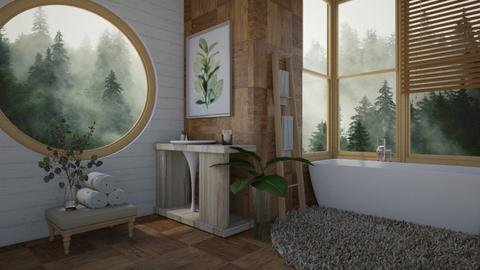 natural minimal bath - Minimal - Bathroom  - by moommusr