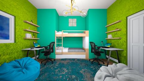 Teal Dorm Room - by Snowball Styler