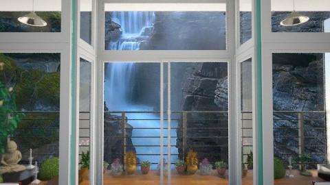 waterfall - Garden - by lysha