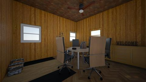 wood office meeting room - Office - by moderngirl12