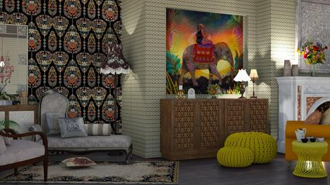 India - Glamour - Living room  - by nat mi