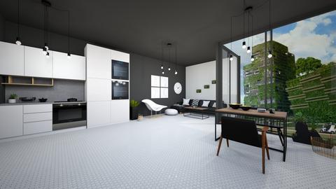black n white eco - Minimal - Living room  - by Happyspaniel