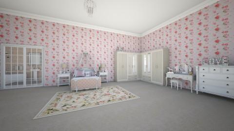 Bedroom and Bathroom - by AmelieDoughty