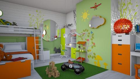 green kids - Modern - Kids room - by donella