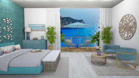 Summer Beach Bedroom - Bedroom  - by MyDesignIdeas